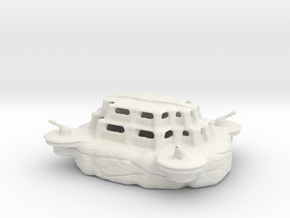 The military academy (with cannons) in White Natural Versatile Plastic
