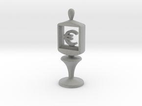Currency symbol figurine,Euro in Metallic Plastic