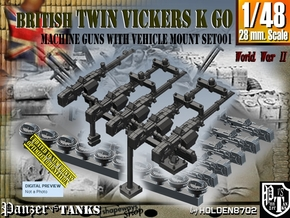 1/48 Vickers K GO Set001 in Smooth Fine Detail Plastic