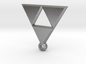 legend of zelda pendant in Natural Silver