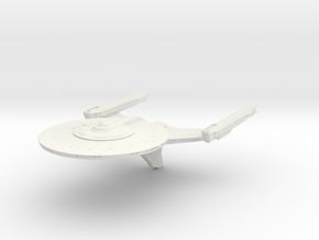 Federation Ackerman Class refit Cruiser in White Natural Versatile Plastic