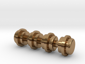 Elesco Feedwater Tank Caps in Natural Brass