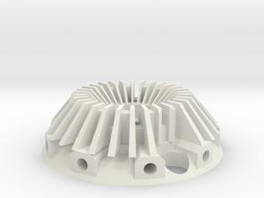 Crystal Holder  in White Natural Versatile Plastic