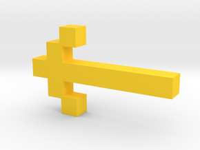 8-Bit Sword from Atari Adventure Video Game in Yellow Processed Versatile Plastic: Medium
