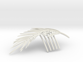 Palm Comb in White Natural Versatile Plastic