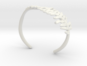 Fern Cuff- Nylon in White Natural Versatile Plastic