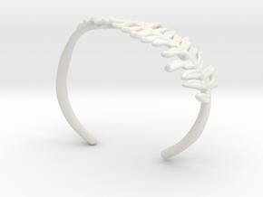 Fern Cuff- Nylon in White Natural Versatile Plastic
