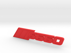 Ford Mustang S550 Tri-Bar Fender Badge in Red Processed Versatile Plastic