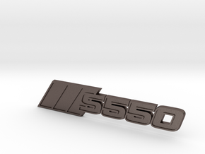 Ford Mustang S550 Tri-Bar Fender Badge in Polished Bronzed Silver Steel