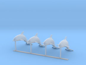 S Scale Dolphins  in Smooth Fine Detail Plastic
