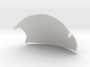 Guy helmet wire plate - 2mm wall in White Natural Versatile Plastic