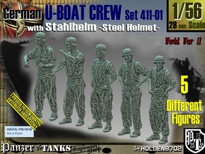 1/56 German U-Boot Crew Set411-01 in Smooth Fine Detail Plastic