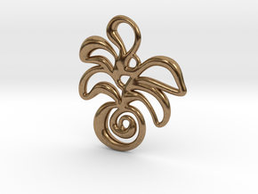 Tropical island in Natural Brass