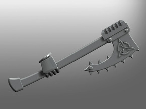 Valkiria pattern Chain-Axe (right) in Smooth Fine Detail Plastic: Small