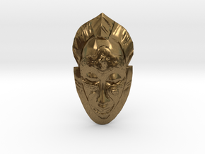 African Mask - Room Decoration in Natural Bronze: Small