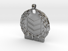 CS:GO Silver 3 Pendant in Polished Silver