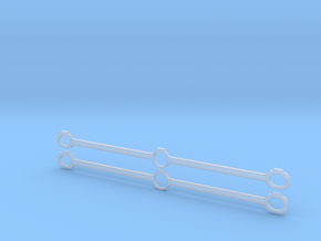 Gauge 1 NWR No 1 Side Rods in Smooth Fine Detail Plastic