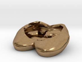 Eggcessories! Egg Heels in Natural Brass