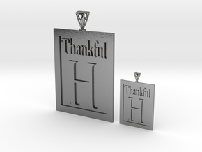 Thankful H Couple's Pendants in Polished Silver