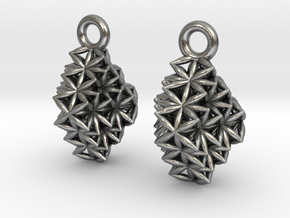 Time Crystal Earrings  in Natural Silver