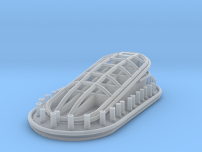 1/144 DKM Bismarck Funnel Cap in Smooth Fine Detail Plastic