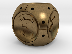 DD6_Dice_Hollow in Natural Bronze