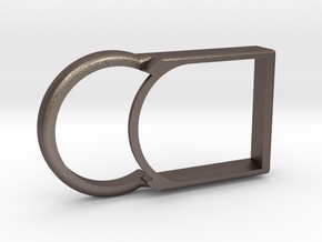 Kiwi Slim – Shell for MiaoMiao (Libre): NO Armband in Polished Bronzed Silver Steel