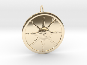 Sunlight Pendant for Large Chains in 14K Yellow Gold