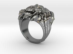 Elegant Broodmother Ring Dota2 in Polished Silver