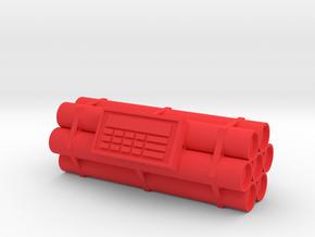 TNT dynamite bomb - 7 sticks - 1:1 scale in Red Processed Versatile Plastic