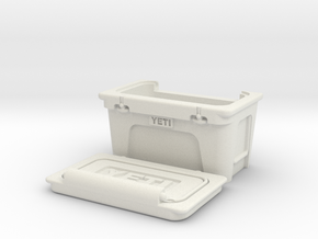 YETI Cooler Tundra 1.10 Scale 50mm wide 2 piece in White Natural Versatile Plastic