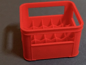 1:12 Crate for bottles  in Red Processed Versatile Plastic