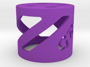 Shock Stand in Purple Processed Versatile Plastic