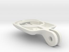 Wahoo Elemnt Bolt Blendr Mount - Short in White Premium Versatile Plastic