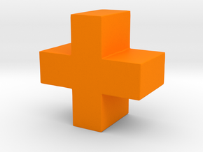 The Medic Game Piece in Orange Strong & Flexible Polished