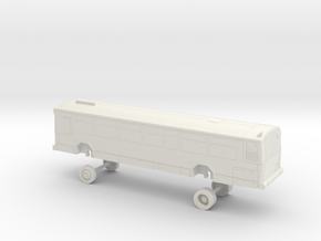 HO Scale Bus Gillig Phantom Westcat 100-111 in White Natural Versatile Plastic