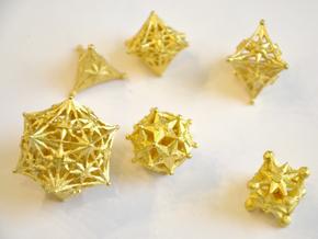 Radiant Dice Set - Balanced in Matte Gold Steel