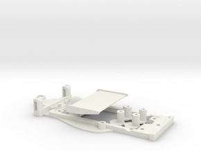 Chassis for Scalextric UOP Shadow in White Natural Versatile Plastic