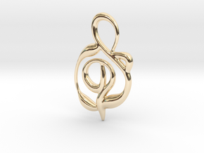 Hidden flower in 14k Gold Plated Brass