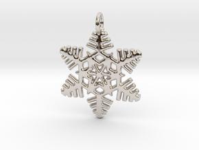 Snowflake Pendant 2 in Platinum