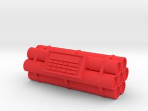 TNT dynamite bomb - 7 sticks - 1:2 scale in Red Processed Versatile Plastic