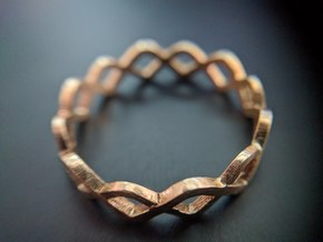 DNA Ring in Natural Brass: 10.25 / 62.125