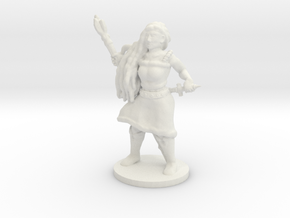 Female Caster with Base in White Natural Versatile Plastic