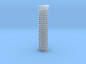 ø3.2mm Pipe Flange 20pc in Smooth Fine Detail Plastic