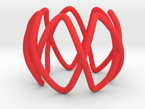 Septafoil as a 7-Fold Cover of the Unknot in Red Processed Versatile Plastic