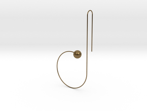 b earring in Natural Bronze