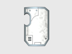 10x blank- Marine Boarding Shield w/Hand in Frosted Ultra Detail