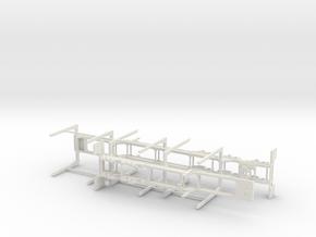 1/50th Super B Log trailer  in White Natural Versatile Plastic