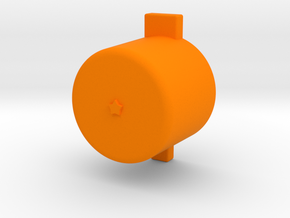 One star button  in Orange Processed Versatile Plastic