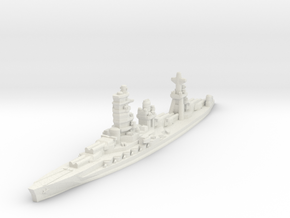 Ise battleship 1/2400 in White Natural Versatile Plastic